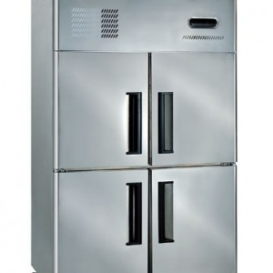 4 Door Stainless Steel Upright Freezer