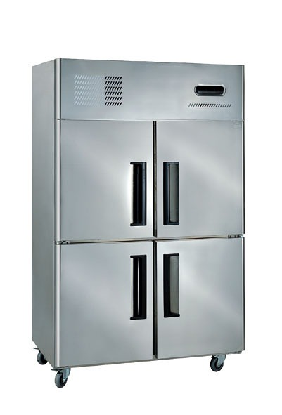 Charming 4 Door Stainless Steel Upright Freezer